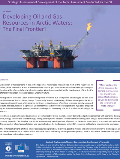 oil and gas factsheet