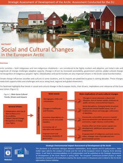 Social and Cultural Changes in the European Arctic